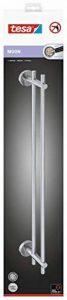 tesa Moon - Porte serviettes 2 barres fixes, Acier Inoxydable, Montage sans perçage - 49mm x 642Mm x 85Mm)) de la marque Tesa image 0 produit