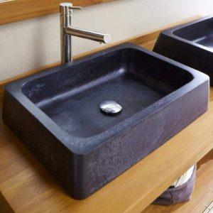 Tikamoon Icar Vasque Salle de Bain - Terrazzo - Noir - 60 x 42 x 13 cm de la marque Tikamoon image 0 produit