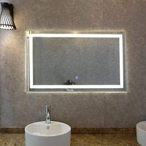 Tonffi Lampe pour Miroir LED 35W 100 x 60 cm Miroir de Maquillage et Cosmétique pour Éclairage de Salle de Bain 4000K 2450LM Luminosité Réglable IP44 étanche de la marque Tonffi image 0 produit