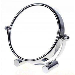 TUKA Miroir Maquillage Grossissement x10, 5 inch Compact Miroir Cosmétique sur Pied, chrome, Ø 12,5 cm, 100% et 1000% orientable sur 360°, Haute Qualité miroir de Table, TKD3104-10x de la marque TUKA image 0 produit