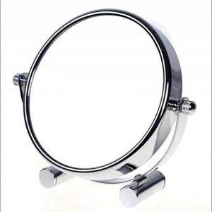 TUKA Miroir Maquillage Grossissement x10, 6 inch Compact Miroir Cosmétique sur Pied, chrome, Ø 15,3 cm, 100% et 1000% orientable sur 360°, Haute Qualité miroir de Table, TKD3142-10x de la marque TUKA image 0 produit