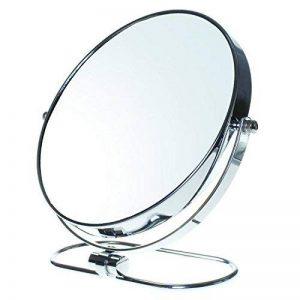 """TUKA Miroir Maquillage Pliable, x10 Grossissement, 8"""" Miroir Cosmétique sur Pied, Miroir pour la Chambre et Voyage, Ø 20 cm Miroir de Table, Double Visage Tournant Miroir de Rasage, TKD3125-10x de la marque TUKA image 0 produit"""