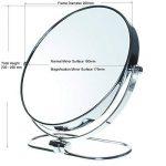 """TUKA Miroir Maquillage Pliable, x10 Grossissement, 8"""" Miroir Cosmétique sur Pied, Miroir pour la Chambre et Voyage, Ø 20 cm Miroir de Table, Double Visage Tournant Miroir de Rasage, TKD3125-10x de la marque TUKA image 2 produit"""