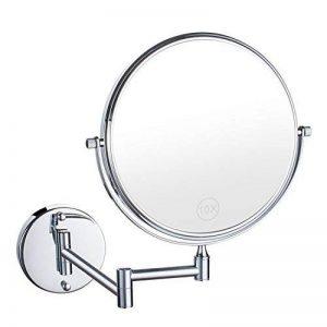 Uniquebella 8 pouces Miroir mural Grossissant x10 fois grossissement-Extension Pliant-Rond-Double Face-360 degrés rotation de la marque UNIQUEBELLA image 0 produit