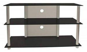 VCM 14165 Onata XXL Meuble TV Aluminium/Verre Argent/Noir de la marque VCM image 0 produit