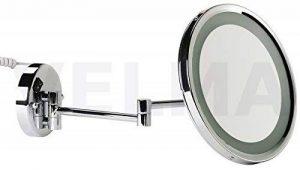 VELMA - AROUND - LED110 7x - MIROIR DE MAQUILLAGE / MIROIR COSMÉTIQUE - lumineux - rond - éclairage LED - diodes blanches - grossissement x7 - orientation multidirectionnelle - rabattable - laiton chromé ultra brillant - haute qualité de la marque VELMA image 0 produit