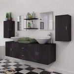 vidaXL Ensemble 9 pièces de mobilier meuble de salle de bain et lavabo vasque Noir de la marque vidaXL image 3 produit