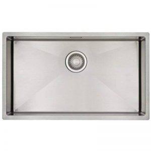 Évier/ lavabo Mizzo Linea 70-40 - évier de cuisine acier inoxydable - 1 bac - lavabo de cuisine carré - montage à fleur ou sous plan - inox brossé de la marque Mizzo Design ® image 0 produit
