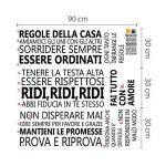 Walplus Sticker Mural Citation Italien Famille Stickers muraux Stickers Amovible, Noir de la marque Walplus image 3 produit