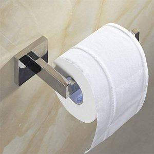 WEARE HOME Porte Rouleau Papier Toilette Acier Inoxydable Métal Chromé Miroir Poli 16*7,5*5,5cm-Dérouleur Papier Accessoirs WC,Déco Murale WC, Distributeur Papier WC-Accessoire Toilettes Salles de Bains de la marque Weare Home image 0 produit