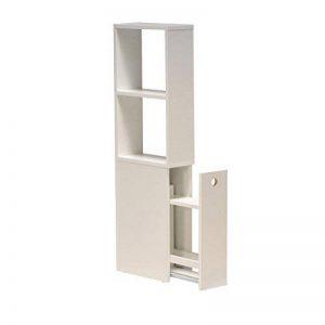 WEBER INDUSTRIES 81029C Contemporain Meuble de Toilettes avec Tiroir de Rangement/2 Niches Bois Blanc 15 x 35 x 110,5 cm de la marque WEBER INDUSTRIES image 0 produit