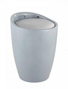 Wenko 25625100 Panier à linge & tabouret de salle de bain Candy, Gris, Ø: 36 x 50,5 cm de la marque Wenko image 0 produit