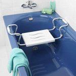 Wenko Siège de Baignoire Secura Extensible, Capacité de Charge 150 kg, Acier, Plastique, Blanc Dimensions 55-65 x 18 x 26 cm de la marque Wenko image 1 produit