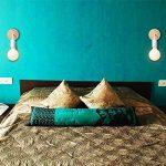 WSXXN Style scandinave en fer forgé/lampe murale en bois simple noir et blanc couleur classique salon chambre mur lumière salle de bain miroir avant mur projecteur (Couleur : Blanc) de la marque Wsxxn image 2 produit