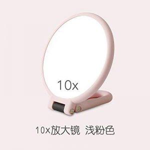 Yiwa Miroir de maquillage Portable Hand-hold double face grossissant 10fois de Noël Cadeau d'anniversaire de la marque Yiwa image 0 produit