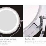 ZT Miroir cosmétique de LED avec le miroir de maquillage rond d'émission de lumière Miroir grossissant de 5 fois le miroir de maquillage mené de la marque SADG image 1 produit