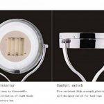 ZT Miroir cosmétique de LED avec le miroir de maquillage rond d'émission de lumière Miroir grossissant de 5 fois le miroir de maquillage mené de la marque SADG image 3 produit