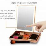 ZT Miroir De Maquillage LED Lumière Trichromatique Écran Tactile Contrôle Dimmable USB Ou À Piles Portable Haute Définition de la marque Inconnu image 3 produit
