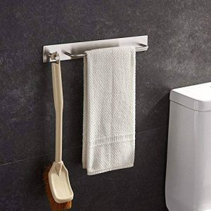 ZUNTO 34cm Auto-Adhésif Porte Serviette Acier Inoxydable Avec Crochet pour salle de bain et cuisine de la marque ZUNTO image 0 produit