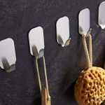 ZUNTO Crochets de 8pcs adhésif inox Porte Serviette crochets de mur 3M Autocollant pour cuisine salle de bains de la marque ZUNTO image 3 produit